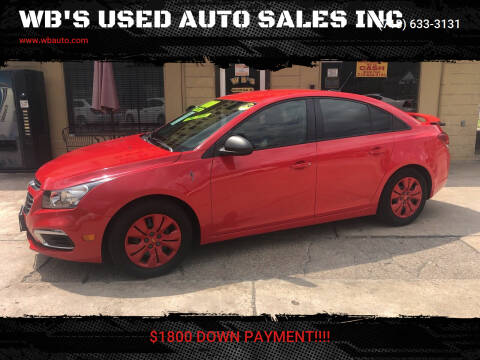 2016 Chevrolet Cruze Limited for sale at WB'S USED AUTO SALES INC in Houston TX
