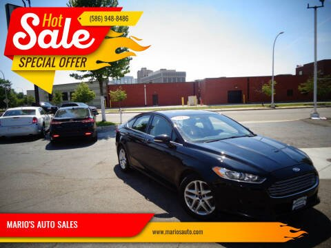 2015 Ford Fusion for sale at MARIO'S AUTO SALES in Mount Clemens MI