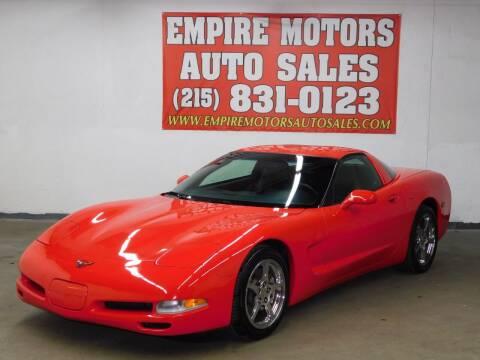 1997 Chevrolet Corvette for sale at EMPIRE MOTORS AUTO SALES in Philadelphia PA