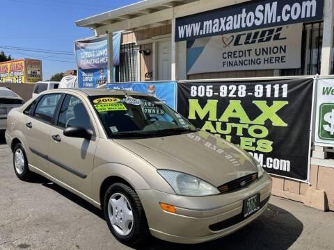2002 Ford Focus for sale at Max Auto Sales in Santa Maria CA
