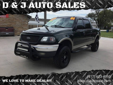 2001 Ford F-150 for sale at D & J AUTO SALES in Joplin MO