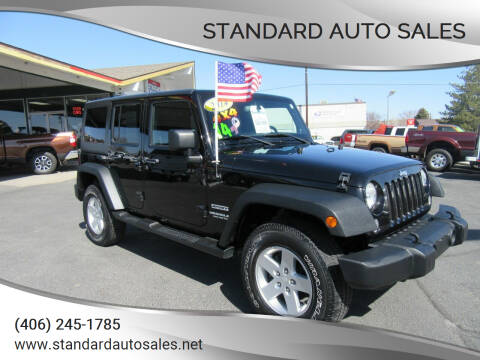 2014 Jeep Wrangler Unlimited for sale at Standard Auto Sales in Billings MT
