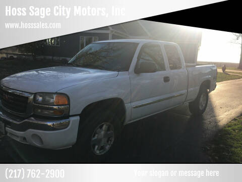 2005 GMC Sierra 1500 for sale at Hoss Sage City Motors, Inc in Monticello IL