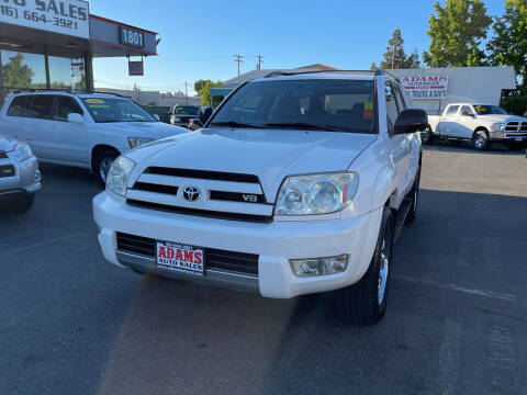 2004 Toyota 4Runner for sale at Adams Auto Sales in Sacramento CA