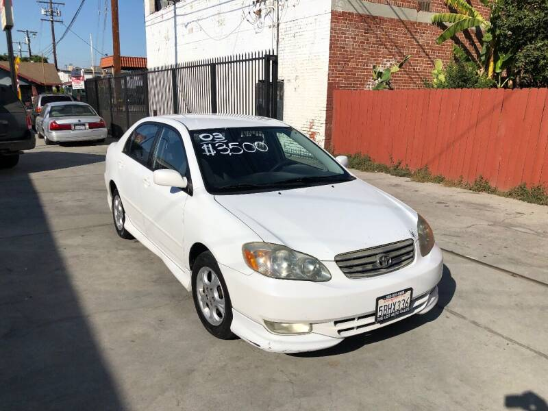 2003 Toyota Corolla for sale at The Lot Auto Sales in Long Beach CA