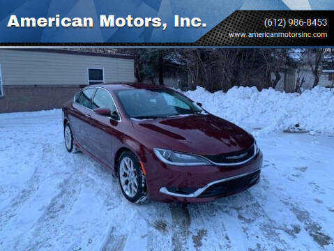 2016 Chrysler 200 for sale at American Motors, Inc. in Farmington MN