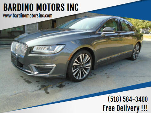 2017 Lincoln MKZ for sale at BARDINO MOTORS INC in Saratoga Springs NY
