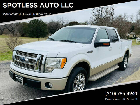 2010 Ford F-150 for sale at SPOTLESS AUTO LLC in San Antonio TX