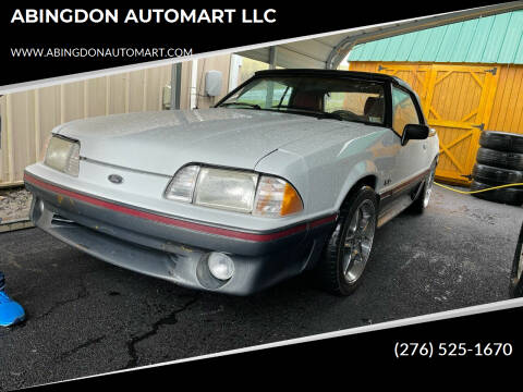 1989 Ford Mustang for sale at ABINGDON AUTOMART LLC in Abingdon VA