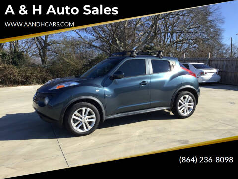 2013 Nissan JUKE for sale at A & H Auto Sales in Greenville SC