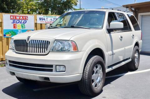 2006 Lincoln Navigator for sale at ALWAYSSOLD123 INC in Fort Lauderdale FL