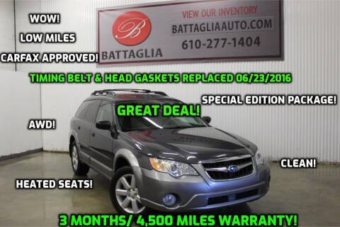 2009 Subaru Outback for sale at Battaglia Auto Sales in Plymouth Meeting PA