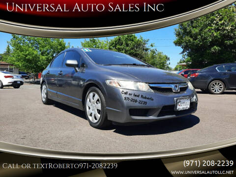 2011 Honda Civic for sale at Universal Auto Sales Inc in Salem OR