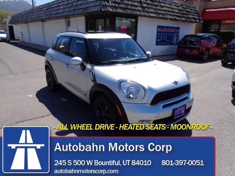 2014 MINI Countryman for sale at Autobahn Motors Corp in Bountiful UT