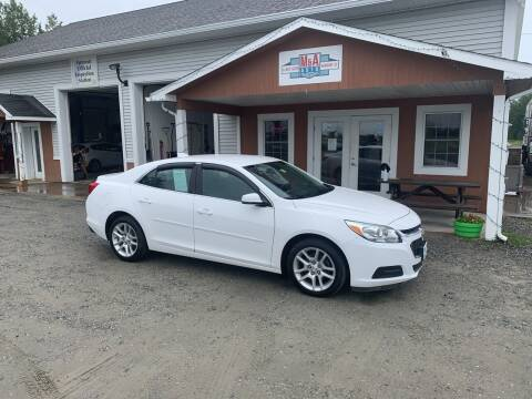 2015 Chevrolet Malibu for sale at M&A Auto in Newport VT