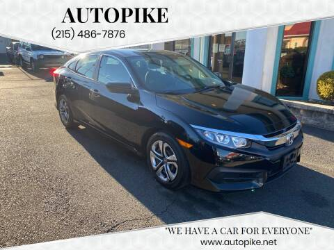 2016 Honda Civic for sale at Autopike in Levittown PA