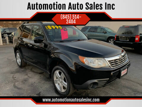 2010 Subaru Forester for sale at Automotion Auto Sales Inc in Kingston NY