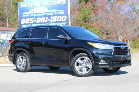 2015 Toyota Highlander for sale at Skyline Motors in Louisville TN