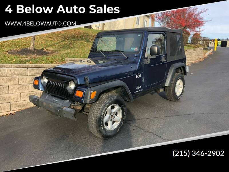 2003 Jeep Wrangler for sale at 4 Below Auto Sales in Willow Grove PA
