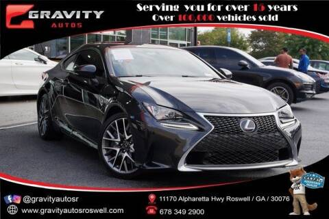 2017 Lexus RC 200t for sale at Gravity Autos Roswell in Roswell GA