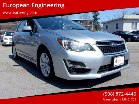 2016 Subaru Impreza for sale at European Engineering in Framingham MA