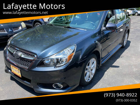 2013 Subaru Legacy for sale at Lafayette Motors in Lafayette NJ