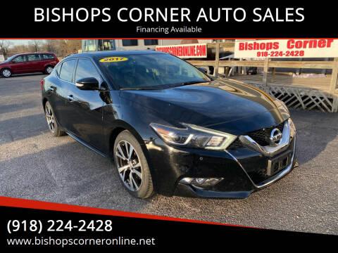 2017 Nissan Maxima for sale at BISHOPS CORNER AUTO SALES in Sapulpa OK