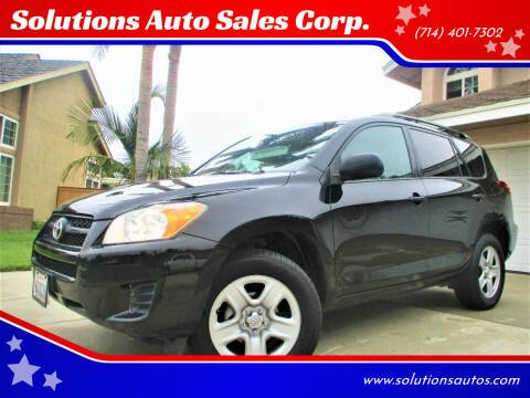2011 Toyota RAV4 for sale at Solutions Auto Sales Corp. in Orange CA