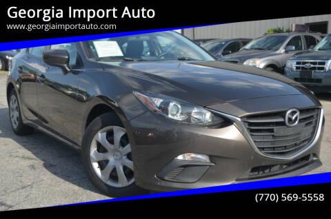 2015 Mazda MAZDA3 for sale at Georgia Import Auto in Alpharetta GA