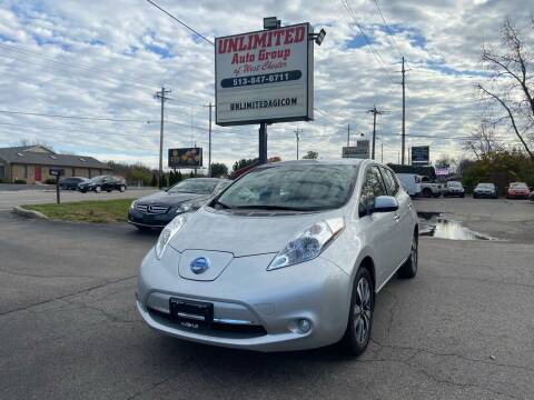 2015 Nissan LEAF for sale at Unlimited Auto Group in West Chester OH
