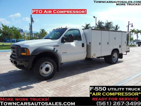 2005 Ford F-550 Super Duty for sale at Town Cars Auto Sales in West Palm Beach FL