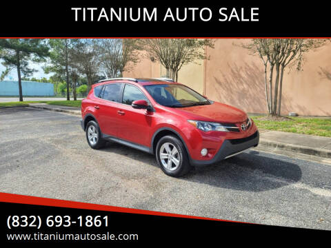 2013 Toyota RAV4 for sale at TITANIUM AUTO SALE in Houston TX