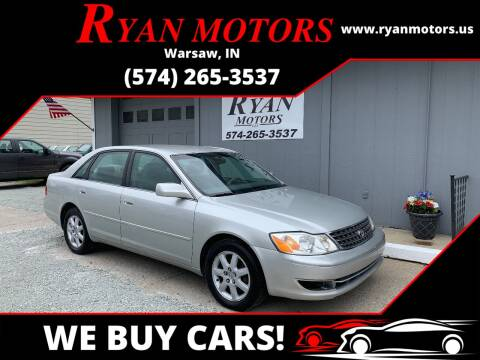 2004 Toyota Avalon for sale at Ryan Motors LLC in Warsaw IN