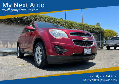 2012 Chevrolet Equinox for sale at My Next Auto in Anaheim CA