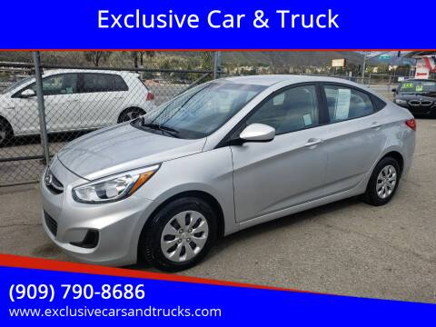 2017 Hyundai Accent for sale at Exclusive Car & Truck in Yucaipa CA
