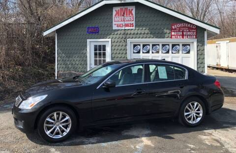 2009 Infiniti G37 Sedan for sale at KMK Motors in Latham NY