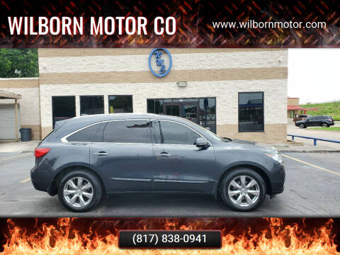 2015 Acura MDX for sale at Wilborn Motor Co in Fort Worth TX