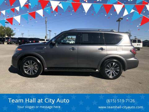 2019 Nissan Armada for sale at Team Hall at City Auto in Murfreesboro TN