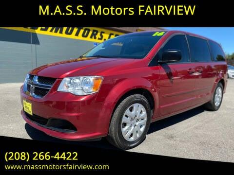 2016 Dodge Grand Caravan for sale at M.A.S.S. Motors - Fairview in Boise ID
