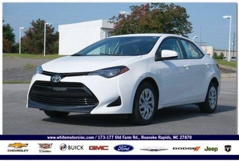 2019 Toyota Corolla for sale at WHITE MOTORS INC in Roanoke Rapids NC