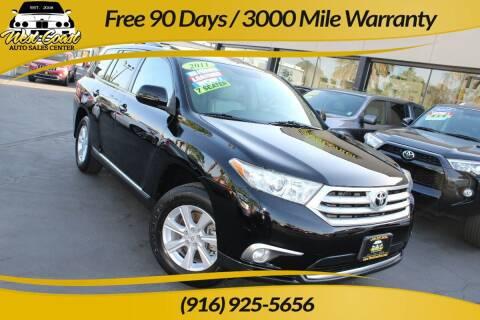 2011 Toyota Highlander for sale at West Coast Auto Sales Center in Sacramento CA