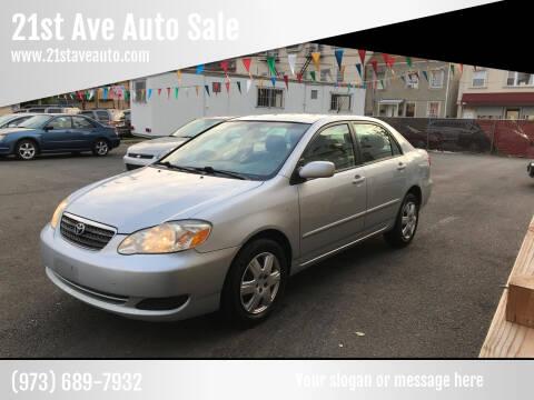 2006 Toyota Corolla for sale at 21st Ave Auto Sale in Paterson NJ