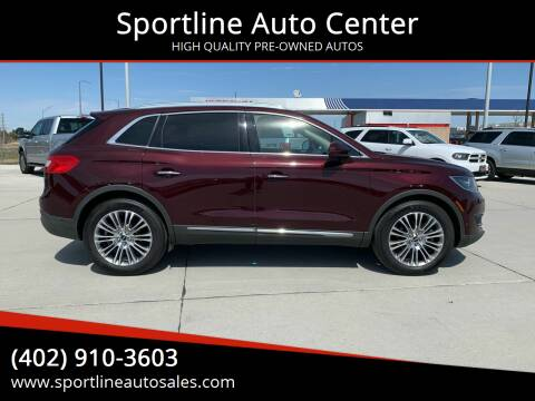 2018 Lincoln MKX for sale at Sportline Auto Center in Columbus NE