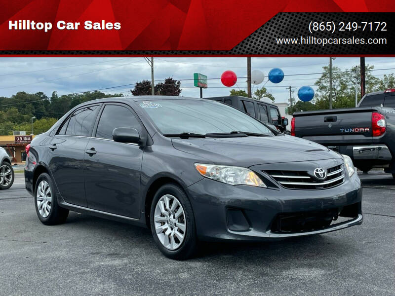 2013 Toyota Corolla for sale at Hilltop Car Sales in Knoxville TN