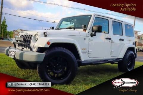 2015 Jeep Wrangler Unlimited for sale at Quality Auto Center of Springfield in Springfield NJ