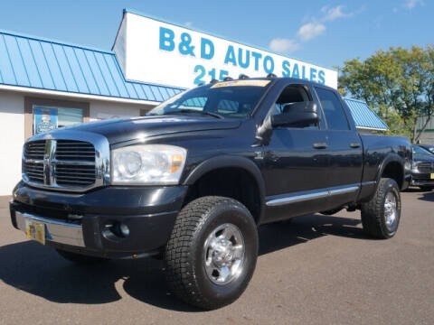 2008 Dodge Ram Pickup 2500 for sale at B & D Auto Sales Inc. in Fairless Hills PA