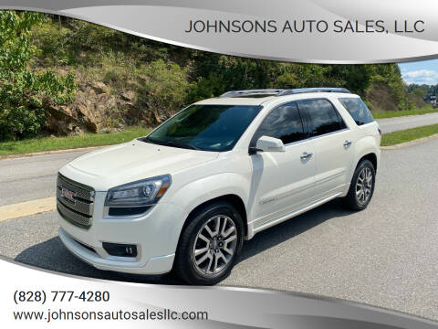 2013 GMC Acadia for sale at Johnsons Auto Sales, LLC in Marshall NC