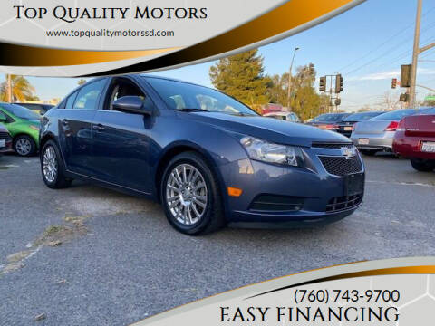 2014 Chevrolet Cruze for sale at Top Quality Motors in Escondido CA