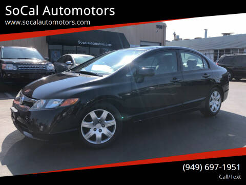 2007 Honda Civic for sale at SoCal Automotors in Costa Mesa CA