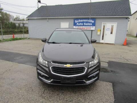 2015 Chevrolet Cruze for sale at SCHERERVILLE AUTO SALES in Schererville IN